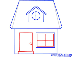 drawing a house how to draw a house for kids step by step buildings landmarks