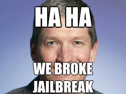 Jailbreak Meme - apple s buggy ios 6 1 3 breaks iphone jailbreak computerworld