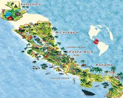 Map Of Central America And Caribbean by Travelling In Central America Edventure Biz