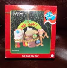 ren and stimpy ornament carlton cards nickelodeon ren and
