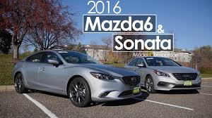 mazda 2016 models hyundai sonata mazda6 2016 model comparison youtube