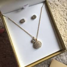 earring necklace sets images Michael kors jewelry earring necklace set gold tone poshmark jpg
