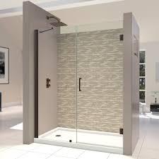 dreamline flex 32 to 36 in frameless pivot shower door chrome shdr