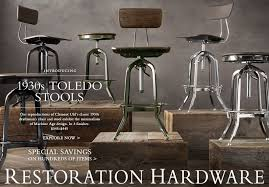 the retro glamour of the vintage toledo stool by restoration