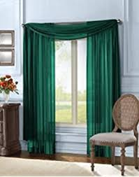 Hunter Green Kitchen Curtains by Amazon Com Gorgeous Home 1 Pc Solid Hunter Green Scarf Valance