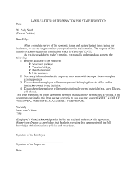 sample employee termination letter employee termination letter
