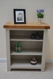 Low Narrow Bookcase by Bishop Painted Oak Low Small Bookcase U2013 Oak Direct