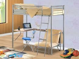 Kid Bed With Desk Bunk Desk Bed Image Of Metal Loft Bed With Desk Plans Bunk Bed