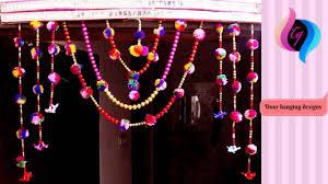 Pink Hanging Door Beads by Door Hanging Designs Handmade Toran Door Decoration Moti Toran