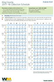 guidelines collection calendar waste management northwest