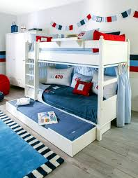Bunk Bed For 3 Bunk Bed White With Drawer For 3 Interior Design Ideas