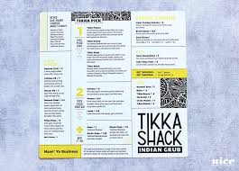 tikka shack restaurant menu design 1 nice branding agency