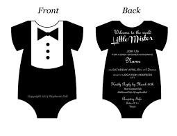 onesie baby shower invitations template resume builder