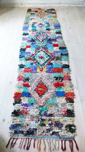 Rag Runner Rug Vintage Moroccan Rag Rug Boucherouite Runner Diamonds