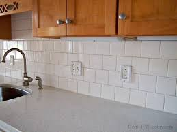 Finished Ceramic Tile Backsplash In The Kitchen DohIY - Square tile backsplash