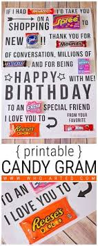 candy for birthdays candy gram birthday card 2 00 01 and foot print