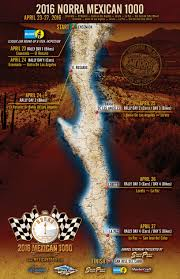 Map Of Ensenada Mexico by Norra Rally Alert The Official 2016 Mexican 1000 Schedule Of