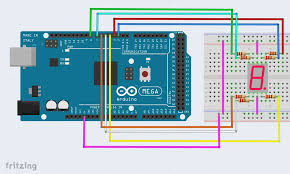 interface a seven segment display to an arduino