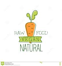 fresh vegan food promotional sign with orange carrot for