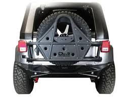 jeep yj rear bumper tire carriers bumpers exterior