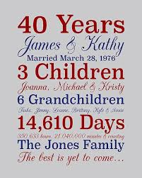 40 anniversary gift surprising 40th wedding anniversary gift ideas for parents photos