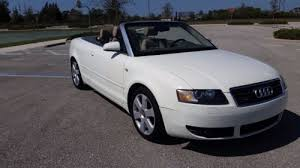 white audi a4 convertible for sale audi a4 convertible 2 door in florida for sale used cars on