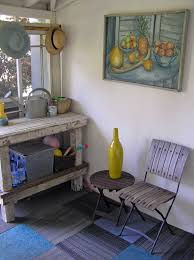 Shabby Chic Bench Potting Bench Porch Shabby Chic With Art Cafe Chair Carpet Tile