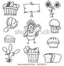 draw stock thanksgiving on doodles stock vector 530062633