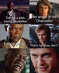 Mace Windu Meme - anakin fires back at mace prequelmemes