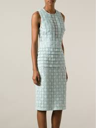 burberry prorsum lace knit dress in green lyst