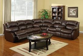 leather sectional sleeper sofa with recliners ansugallery com