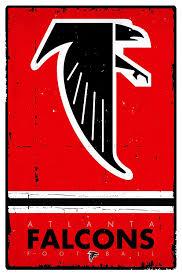 amazon com trends international atlanta falcons retro logo wall