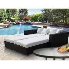 palisades 4 piece outdoor patio daybed espresso white buy