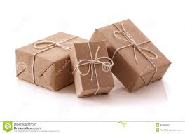 gift packages brown recycled paper gift parcels stock image image of