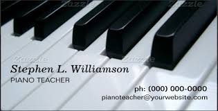 Piano Teacher Resume Sample by Business Cards For Teachers U2013 48 Free Psd Format Download Free