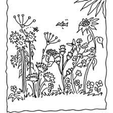 blank garden coloring kids drawing coloring pages