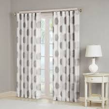 White And Grey Curtains Buy Sheer 84 Inch Window Curtain Panel In Grey From Bed Bath Beyond