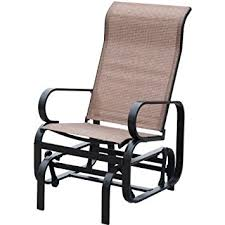 Patio Chair Fabric Amazon Com Patiopost Sling Glider Outdoor Patio Chair Textilene