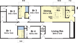 floor plans for ranch houses prissy inspiration 5 madular four bedroom house plans ranch style