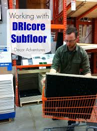Basement Subfloor Systems - working with dricore subfloor in a basement decor adventures