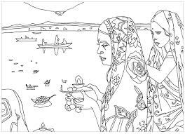 free coloring page coloring india puja rite coloring page