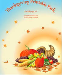 thanksgiving printables to go with i and who