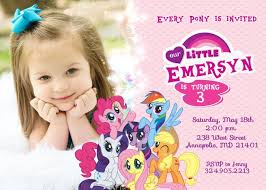 free my little pony birthday invitations printable template