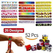 Favors For Birthday by 25 Mega Pack Slap Bracelets Slap Bands Birthday