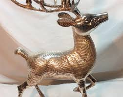 Christmas Reindeer Statue Decorations by Reindeer Centerpiece Etsy