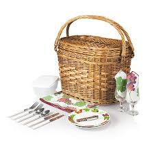 picnic baskets for two willow picnic basket for two hometooutdoors