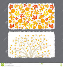 autumn flyer template with leaves stock vector image 76885119