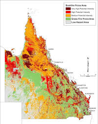 Map Of Queensland Mapping Fire Prone Areas Before The Fires Ecos