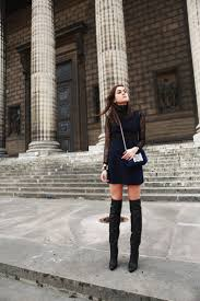 knee high boots style scrapbook navy lace and knee high boot