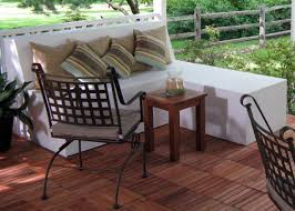 Outdoor Wooden Bench Plans To Build by How To Build Outdoor Patio Bench With Ottoman Hgtv